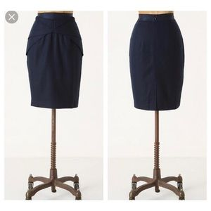 Anthropologie Girls From Savoy blue yumi skirt 12